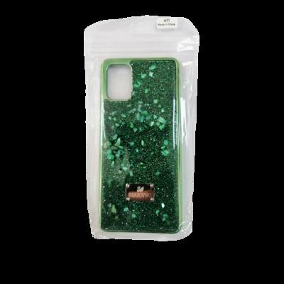 Samsung Case - A71 - Green Swarocski