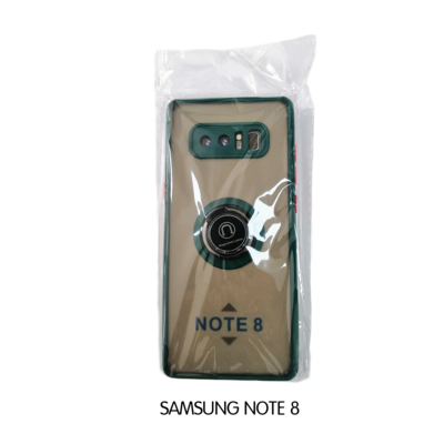 Samsung Case - Note 8 - Transparent with Emerald Lining