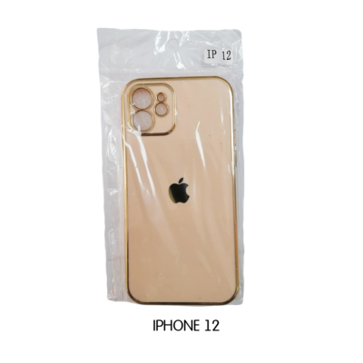 Iphone Case 12 Pro - Peach with Gold Lining