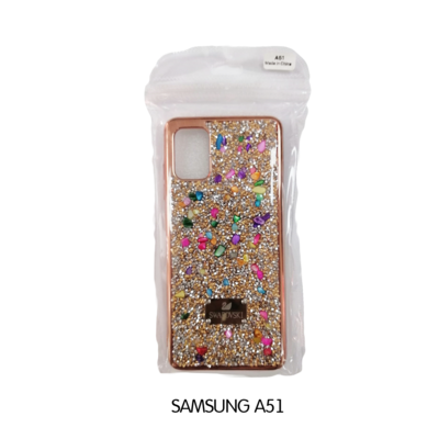 Samsung Case - A51 - Black Swarovski Colorful