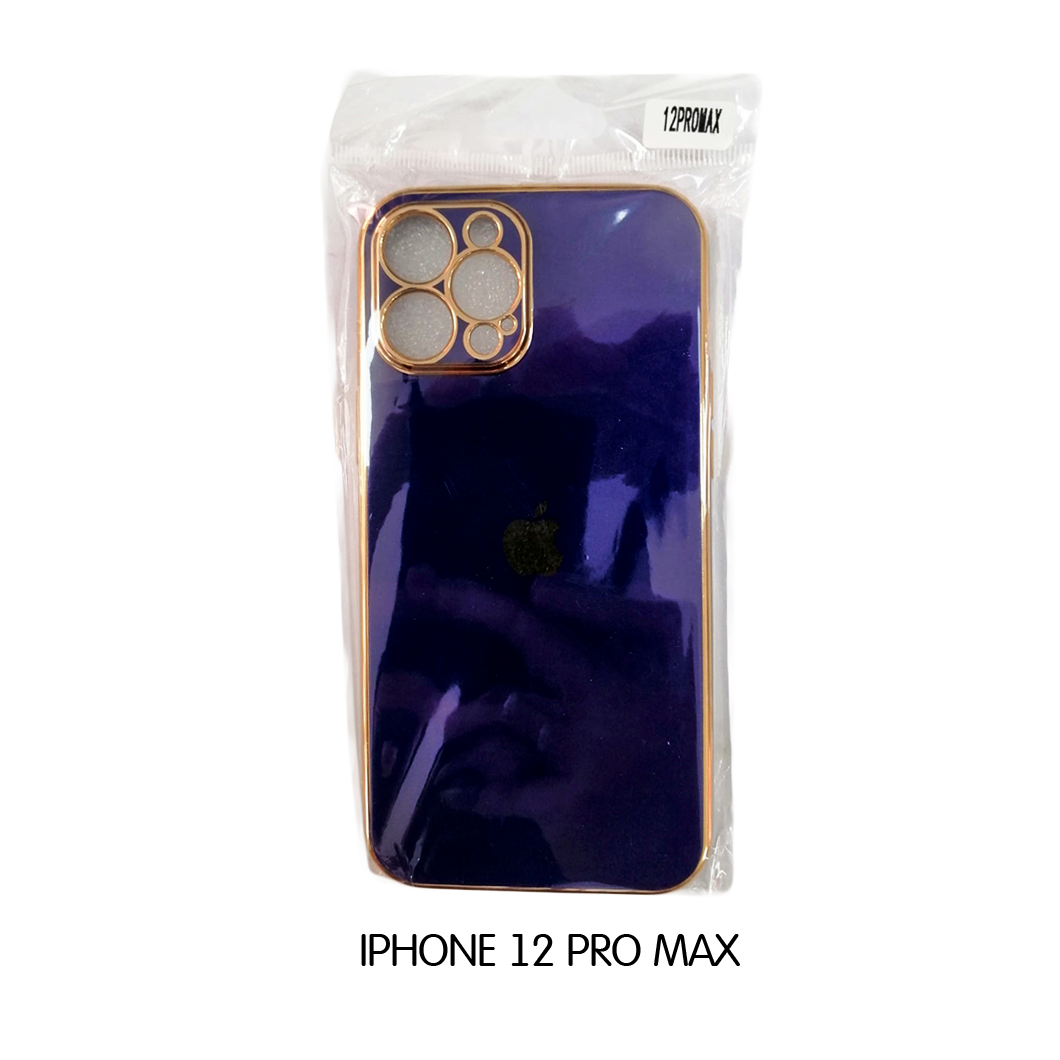 Iphone Case 12 Pro -Violet with Gold Lining