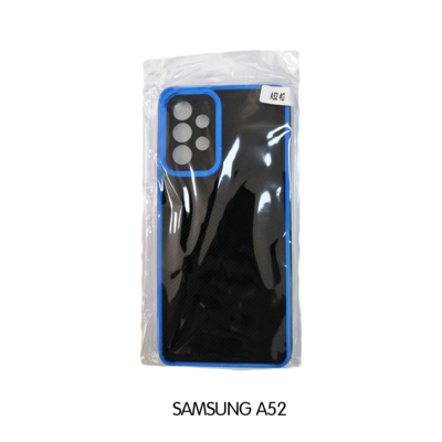 Samsung Case - A52 - Black with Blue Lining