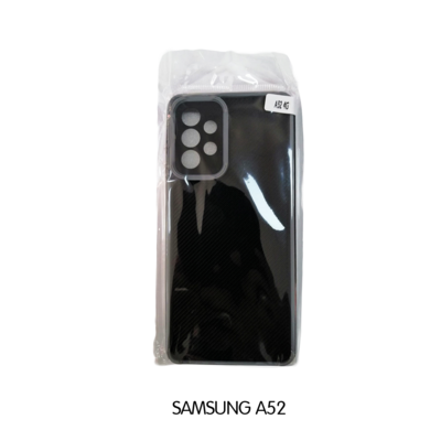 Samsung Case - A52 - Black with Gray Lining