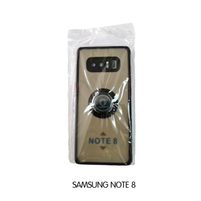 Samsung Case - Note 8 - Transparent with Black Lining