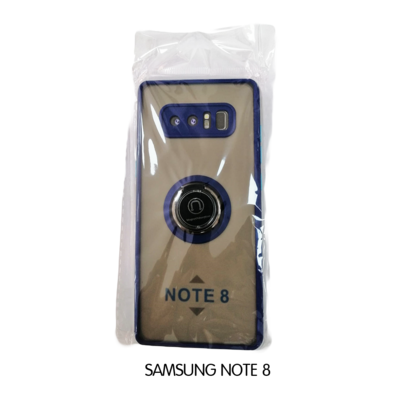 Samsung Case - Note 8 - Transparent with Blue Lining