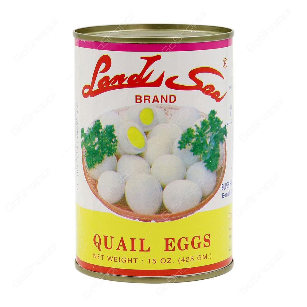 Land Sea Quail Eggs 425g