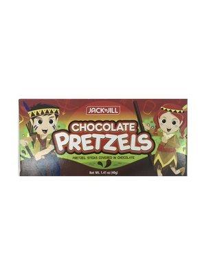 Jack n Jill Chocolate Pretzels 40g