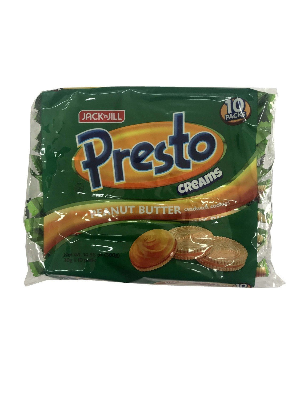 Jack n Jill Presto Creams Peanut Butter 30gx10