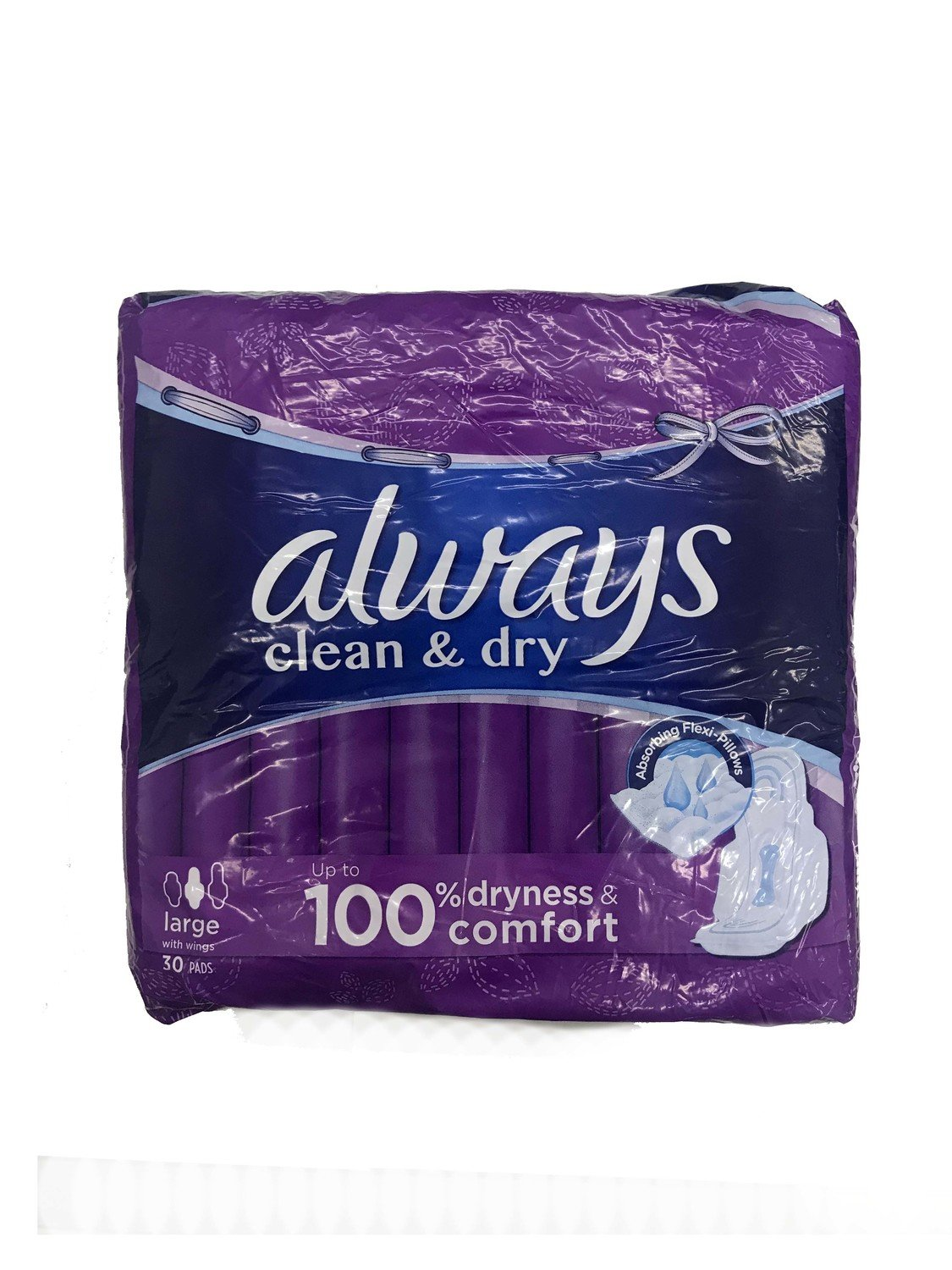 Always Clean & Dry Large 30pc