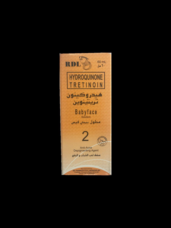 RDL 2: Hydroquinone Tretinoin Babyface 2 60ml