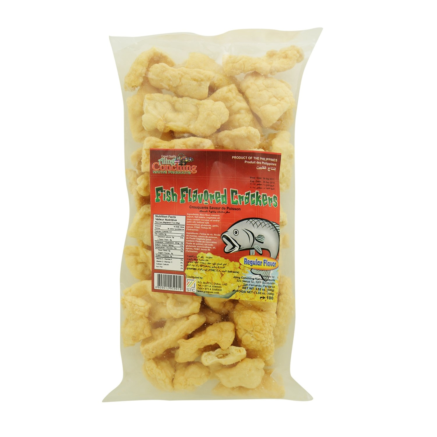 Aling Conching Fish Flavored Crackers Regular Flavor 100g