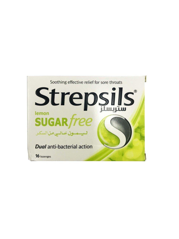 Strepsils Lemon Sugar Free Dual Anti-bacterial Action