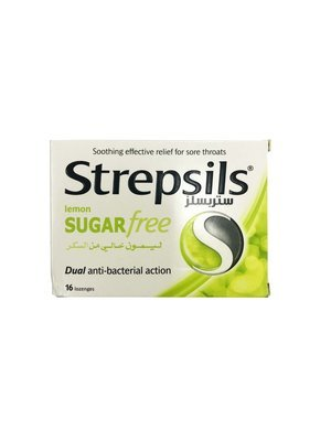 Strepsils Lemon Sugar Free Dual Anti-bacterial Action