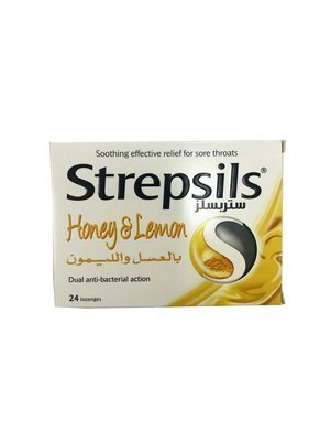 Strepsils Honey & Lemon Dual Anti-bacterial Action 24pc