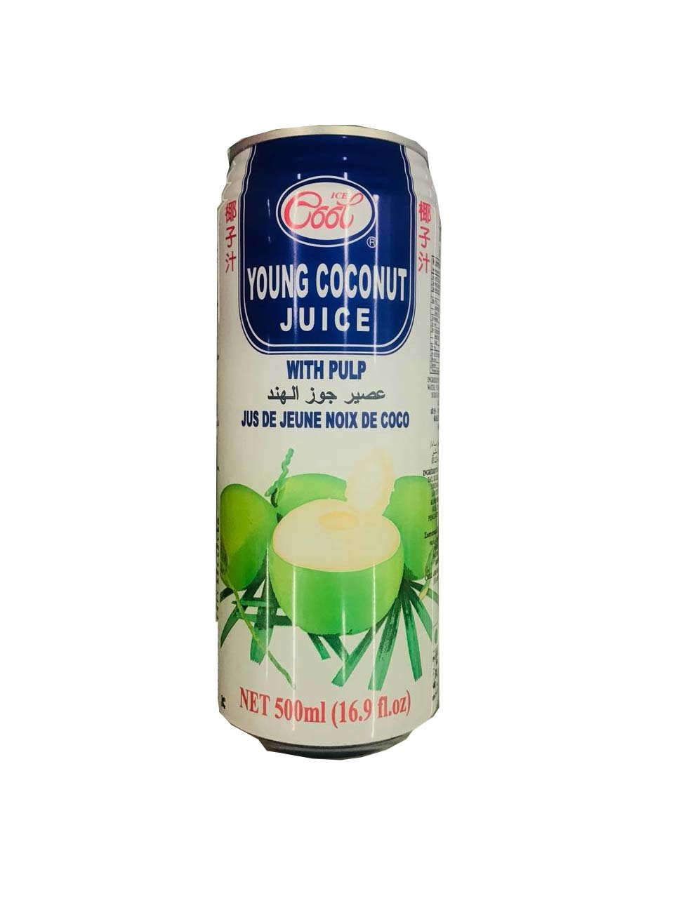 Ice Cool Young Coconut Juice with Pulp 500ml