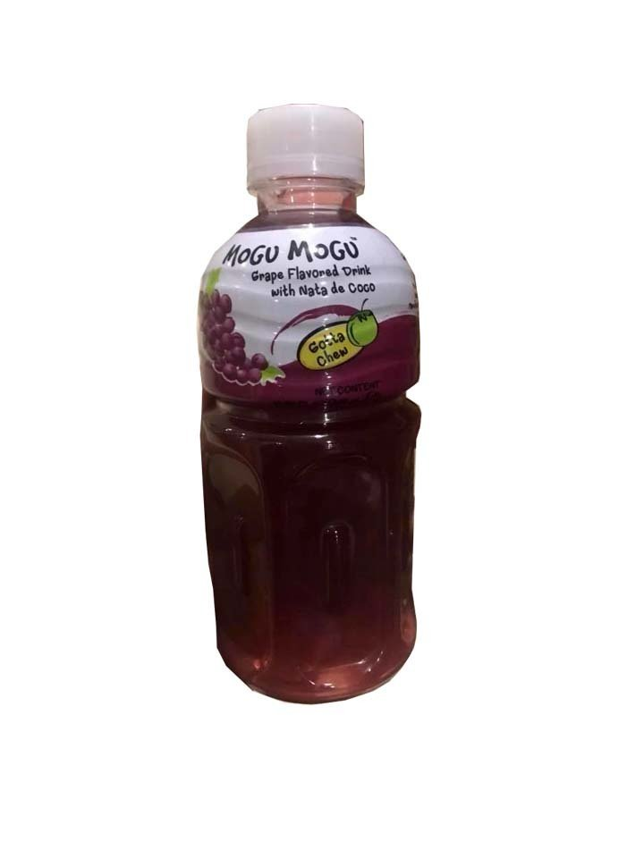 Mogu Mogu - Grape Flavored Drink with Nata De coco