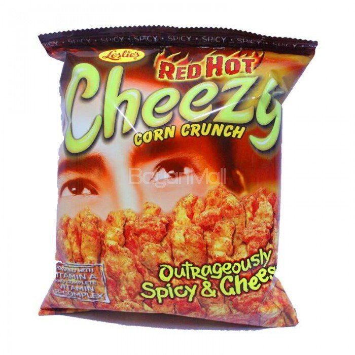 Leslie Cheezy Corn Crunch Outrageously Spicy & Cheesy
