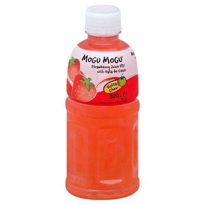 Mogu Mogu Strawberry Flavored Drink with Nata De coco