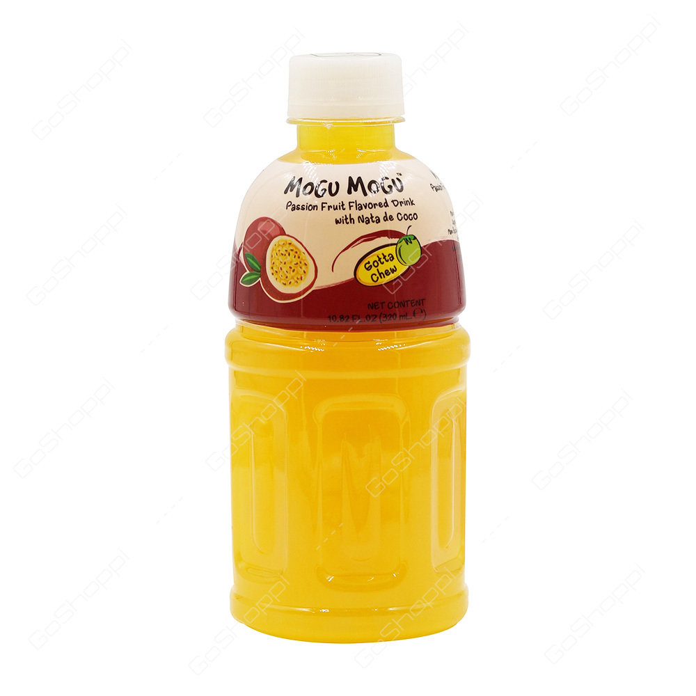 Mogu Mogu - Passion Fruit Flavored Drink with Nata De coco 320ml