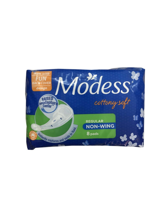 Modess Cottony Soft Regular Non-Wing 8 Pads