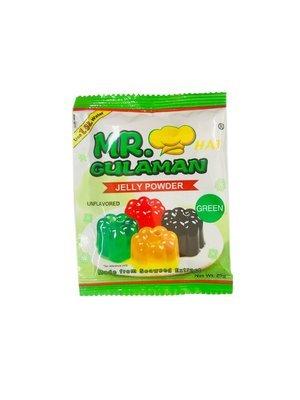 Mr Gulaman Unflavored Jelly powder Green 25g