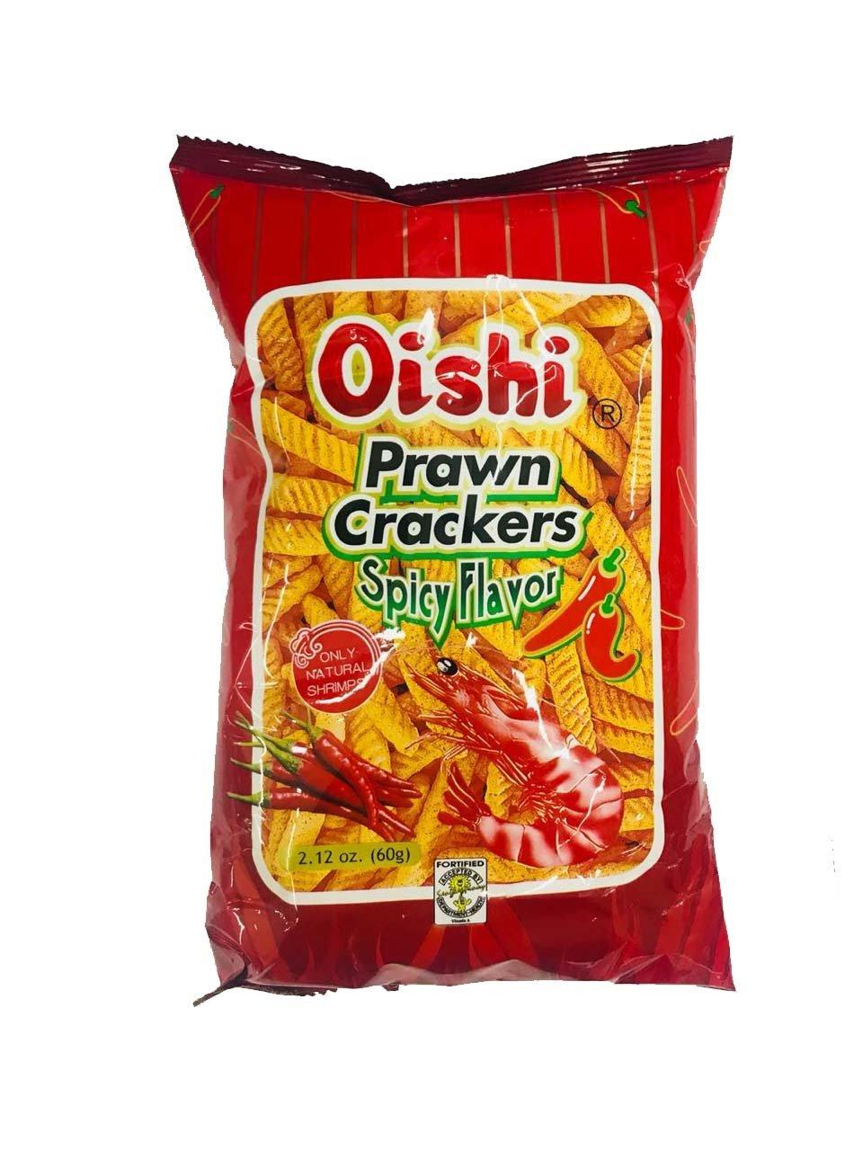 Oishi Prawn Crackers Spicy Flavor 60g
