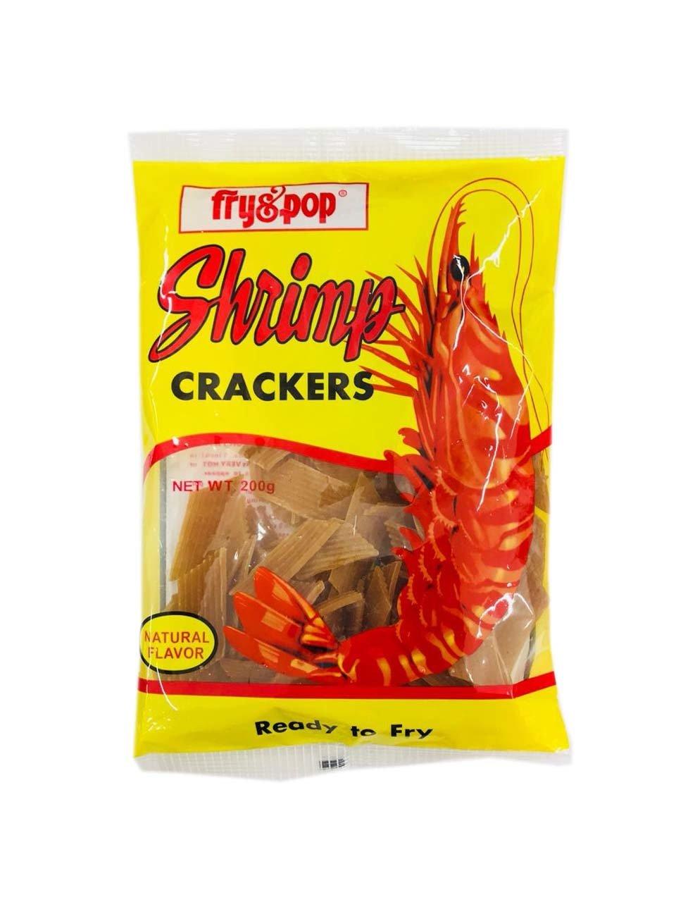 Fry & Pop Shrimp Crackers Natural Flavor 200g