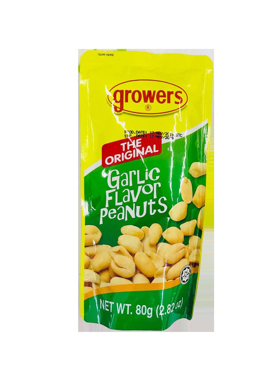 Growers Garlic Flavor Peanuts 80g