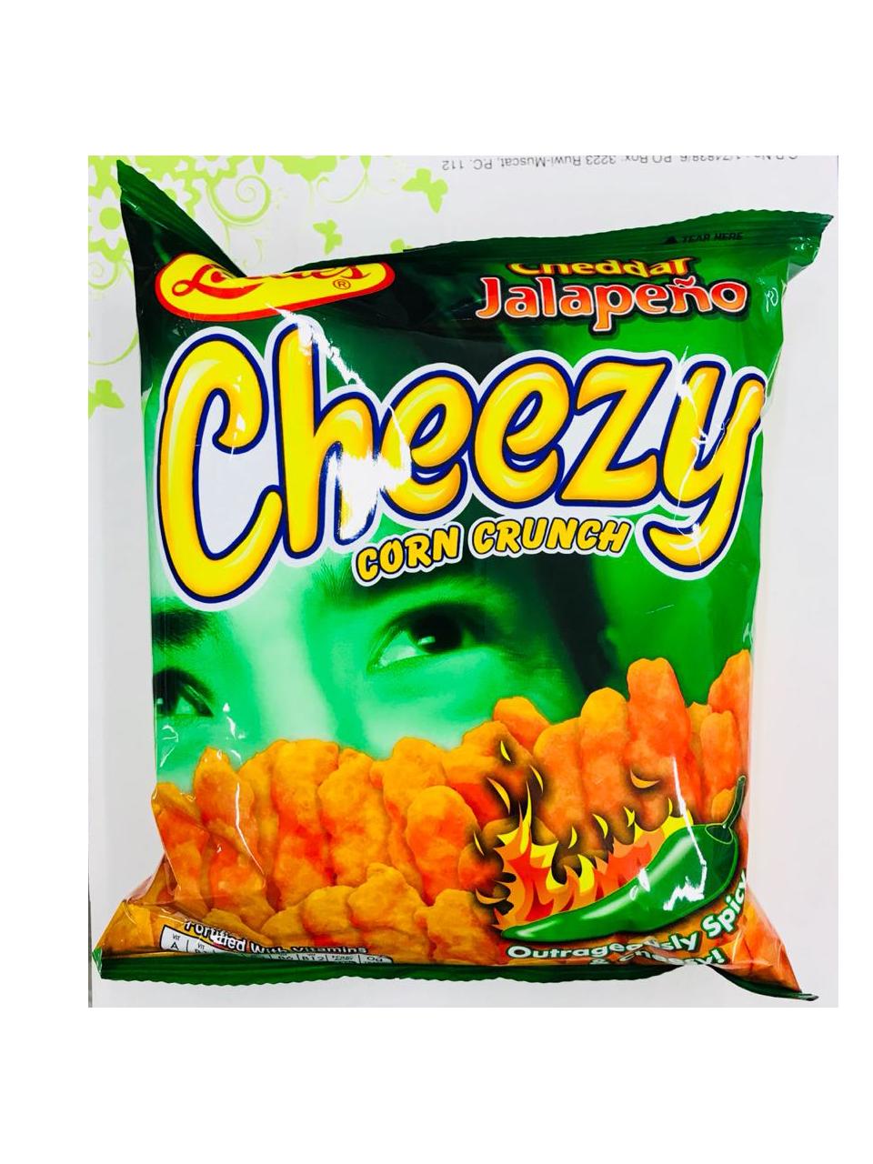 Leslie Cheezy Corn Crunch Cheddar Jalapeno 70g