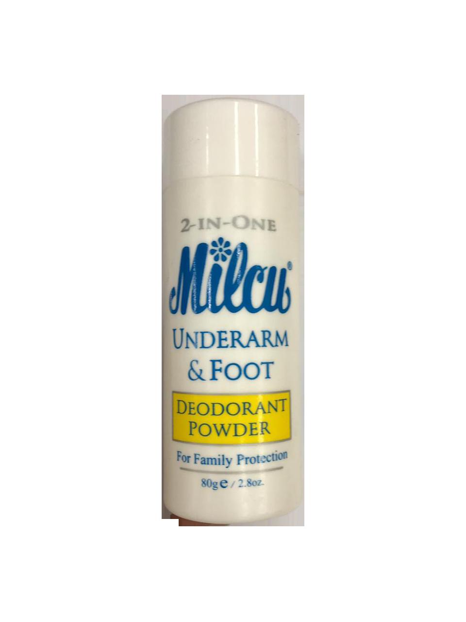 Milcu Underarm & Foot Deodorant Powder 80g