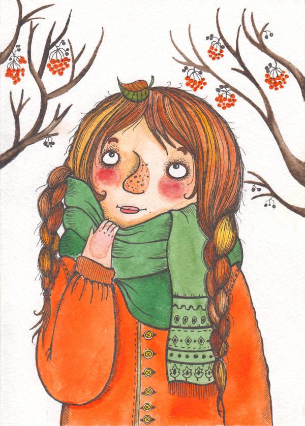 """Открытка """"Осенний листик"""""""