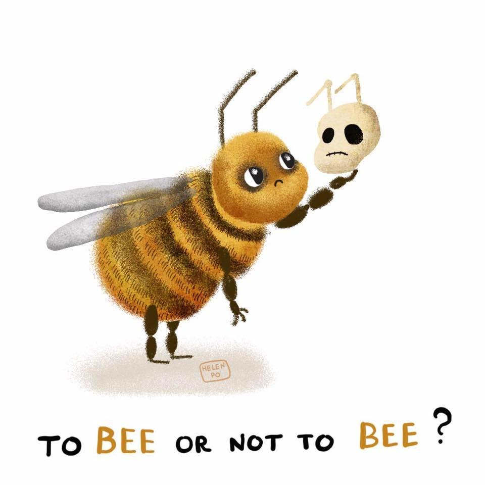"Открытка ""To bee or not to bee"""