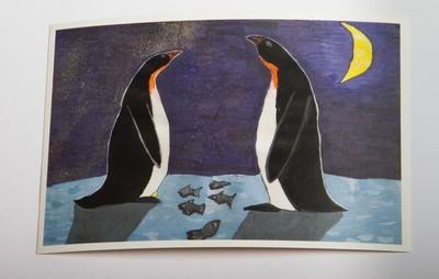 """Открытка """"Императорские пингвины встречают Новый год"""""""