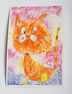 """Открытка """"Рыжий кот"""""""