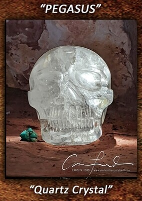 Quartz (Brilliant) Crystal Skull, Einstein Imprinted,