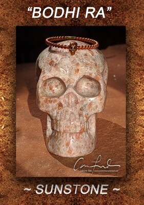 SUNSTONE,  Einstein the Ancient Crystal  Skull Imprinted,
