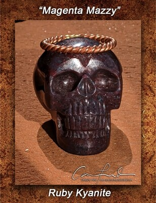 Ruby Kyanite ~ Einstein Imprinted Skull,
