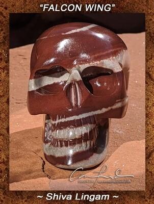 Shiva Lingam Skull Carving,  Einstein the Ancient Crystal  Skull Imprinted