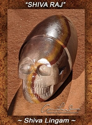 Shiva Lingam Skull,  Einstein the Ancient Crystal  Skull Imprinted
