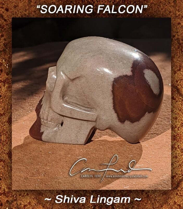 Shiva Lingam Skull Carving,  Einstein the Ancient Crystal Skull, Imprinted