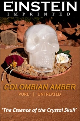AMBER  Incense from Colombia, the Essence of the Crystal Skull, Einstein Imprinted