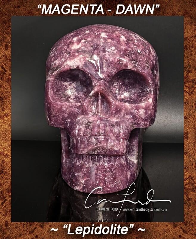 Lepidolite, Einstein Imprinted, Crystal Skull,
