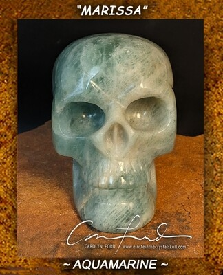 AQUAMARINE Skull, Einstein Imprinted ~