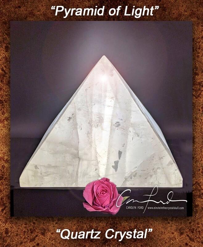 Pyramid of Light, Quartz Crystal, Einstein Imprinted