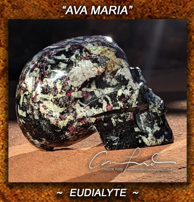 Eudialyte Skull, Einstein Imprinted