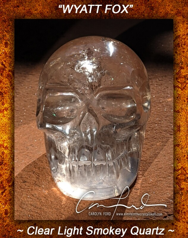 Lt. Smokey Quartz Crystal Skull, Einstein Imprinted