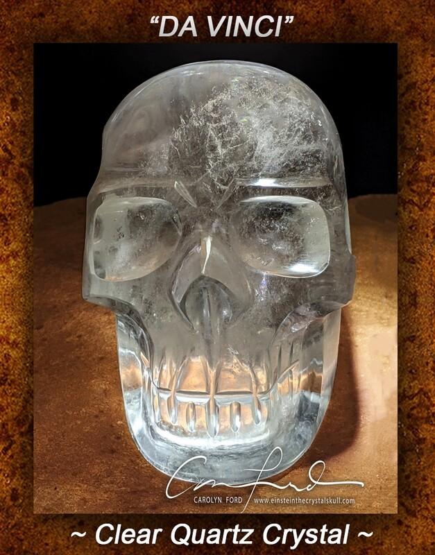 Clear Quartz Skull,  Einstein Imprinted