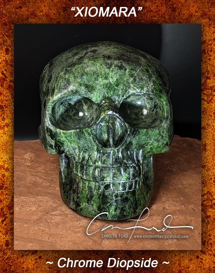 Chrome Diopside Skull,