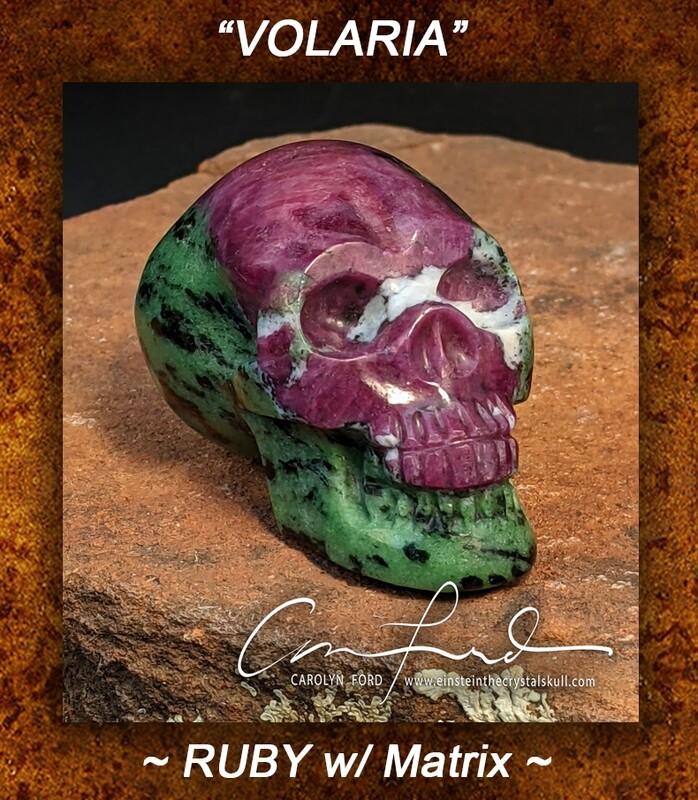 Ruby Skull w/ Matrix