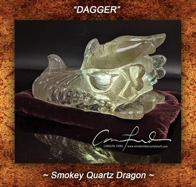 DRAGON, Smokey Quartz, Einstein Imprinted ~